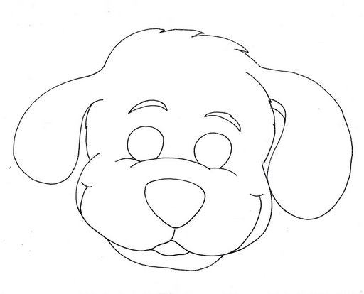Dog Mask Coloring Page on Color By Number Puppy Worksheet