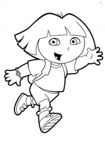 Dora the explorer coloring pages | Crafts and Worksheets for Preschool,Toddler and Kindergarten
