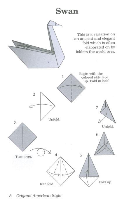 Easy Origami Animals Swan Craft Preschool