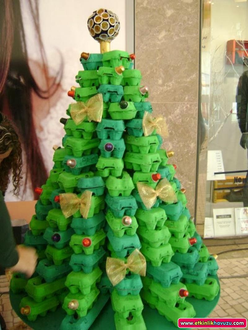 Egg Cartoon Christmas Tree