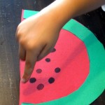 fingerprint watermelon craft