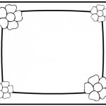 flower frame coloring
