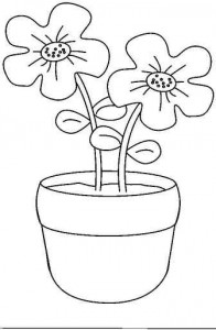 Flower Pot Coloring Pages