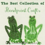 footprint frog craft