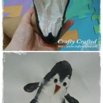 footprint penguin craft for kids