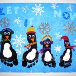 footprint penguin craft