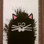 fork painted cat