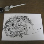 fork painted hedgehog craft