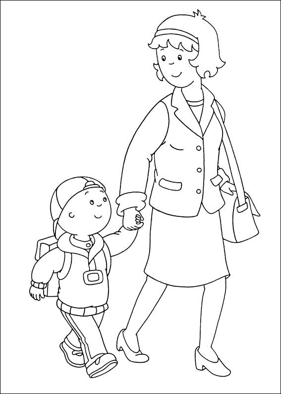 Crafts actvities and worksheets for preschool toddler and for Caillou printable coloring pages