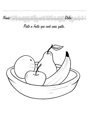 Fruit Basket Coloring Page 1