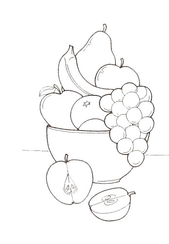 fruit basket coloring pages | Crafts and Worksheets for Preschool ...