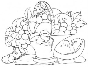 Fruit Basket Coloring Page 6