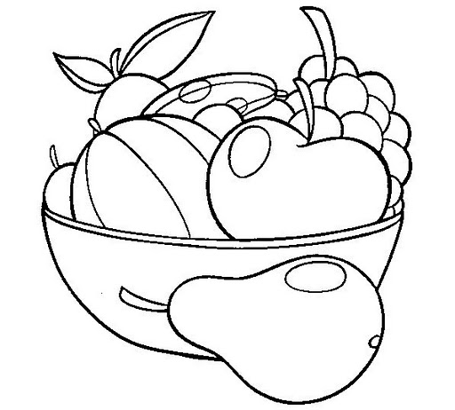 fruit baskets coloring pages - photo#30