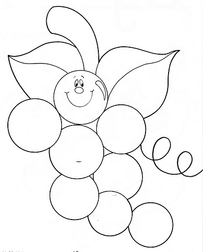 Fruit Coloring Pages and Printables : Crafts and Worksheets for Preschool,Toddler and Kindergarten