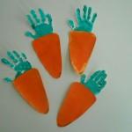 handprint carrot craft