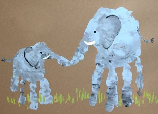 handprint elephant craft
