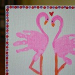 handprint flamingo craft