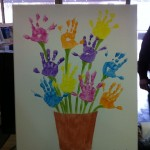 handprint flower craft