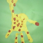 handprint giraffe craft