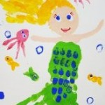 handprint mermaid craft