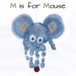 handprint mouse craft