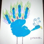 handprint peacock craft
