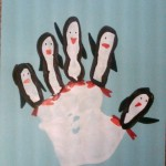 handprint penguin craft for kids
