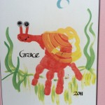 handprint snail craft