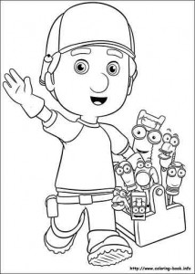 handy manny online_coloring_page 1 - Handy Manny Colouring Pages