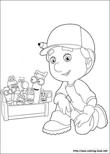 this page has free handy manny coloring pages for kids - Handy Manny Colouring Pages