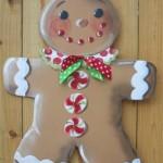 happy gingerbread cookie man