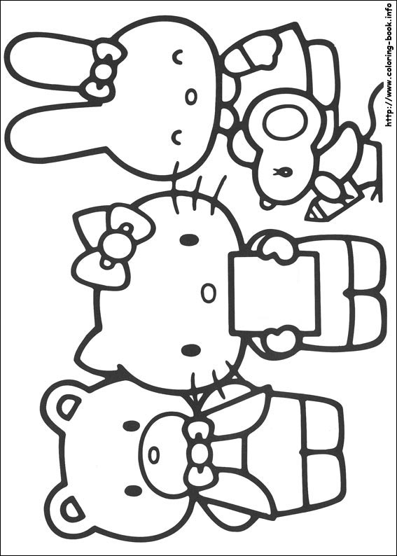 Hello kitty coloring pages crafts and worksheets for for Hello kitty fall coloring pages