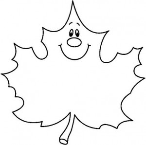 Leaves coloring page Crafts and