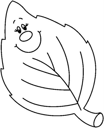 fall leaves preschool coloring pages - photo#36