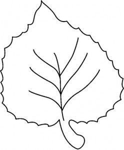 Leaf Pattern Coloring Page