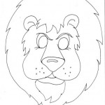 lion mask coloring page
