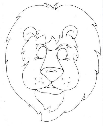 lion mask coloring page crafts actvities and worksheets for preschool toddler and