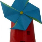 make a windmill with a cup