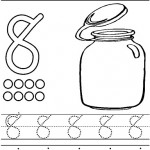 number eight 8 coloring and tracing worksheets  (17)