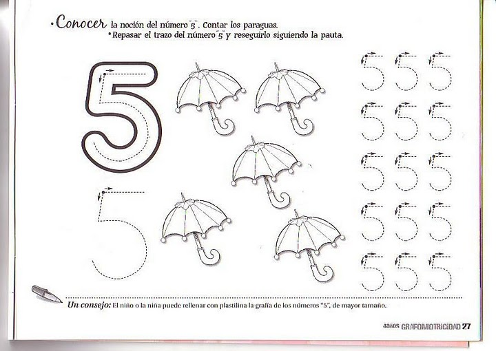 number five 5 coloring and tracing worksheets  (18)
