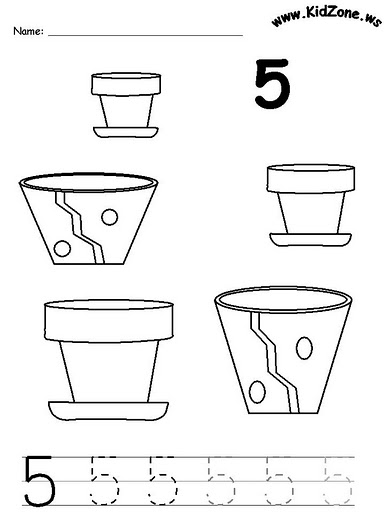 number five 5 coloring and tracing worksheets  (22)