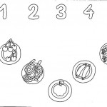 number five 5 coloring and tracing worksheets  (5)