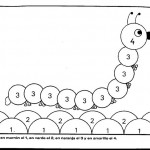 number four 4 coloring and tracing worksheets  (23)