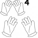 number four 4 coloring and tracing worksheets  (28)