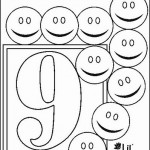 number nine 9 coloring and tracing worksheets  (1)