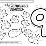 number nine 9 coloring and tracing worksheets  (14)