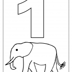 number one tracing and coloring worksheets (1)