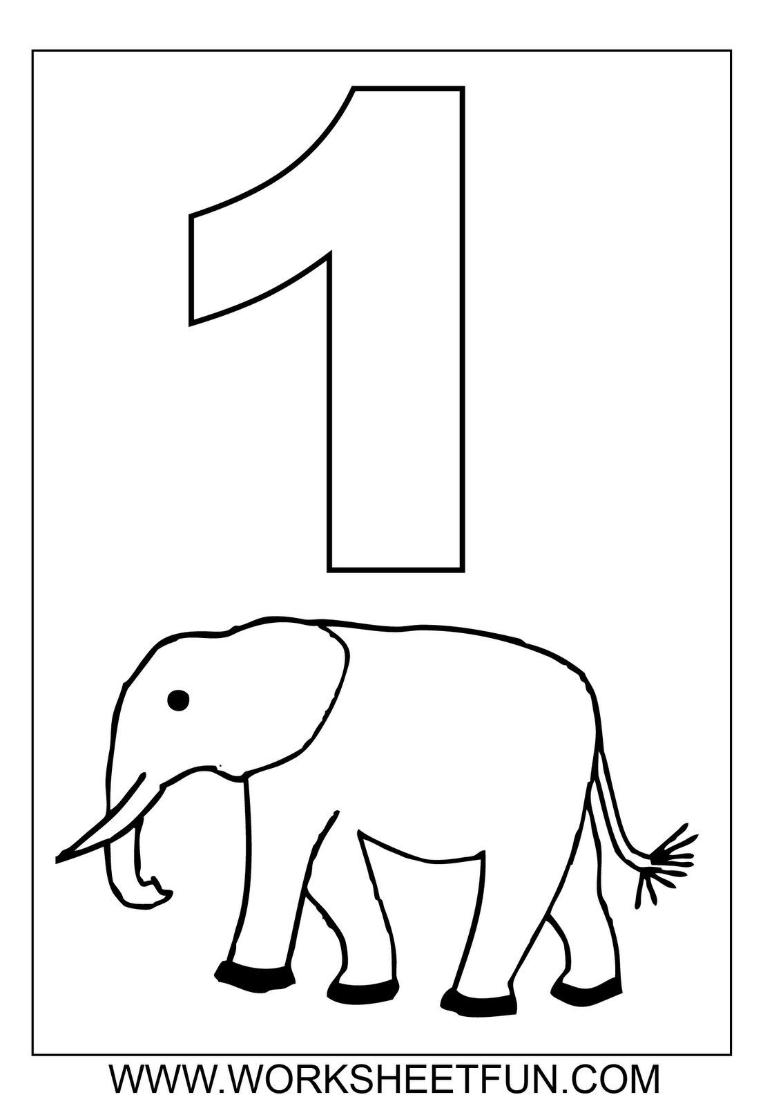 Colouring on worksheets - Number One Tracing And Coloring Worksheets 1