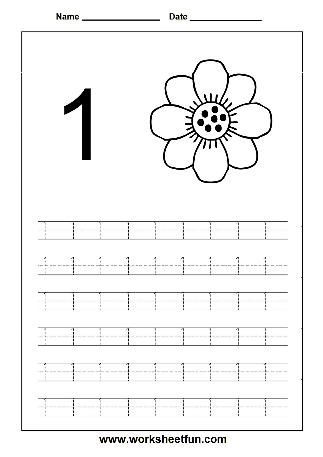 Worksheets Preschool Number 1 Worksheets number 1 one tracing and coloring worksheets crafts 2
