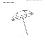 number one tracing and coloring worksheets (4)